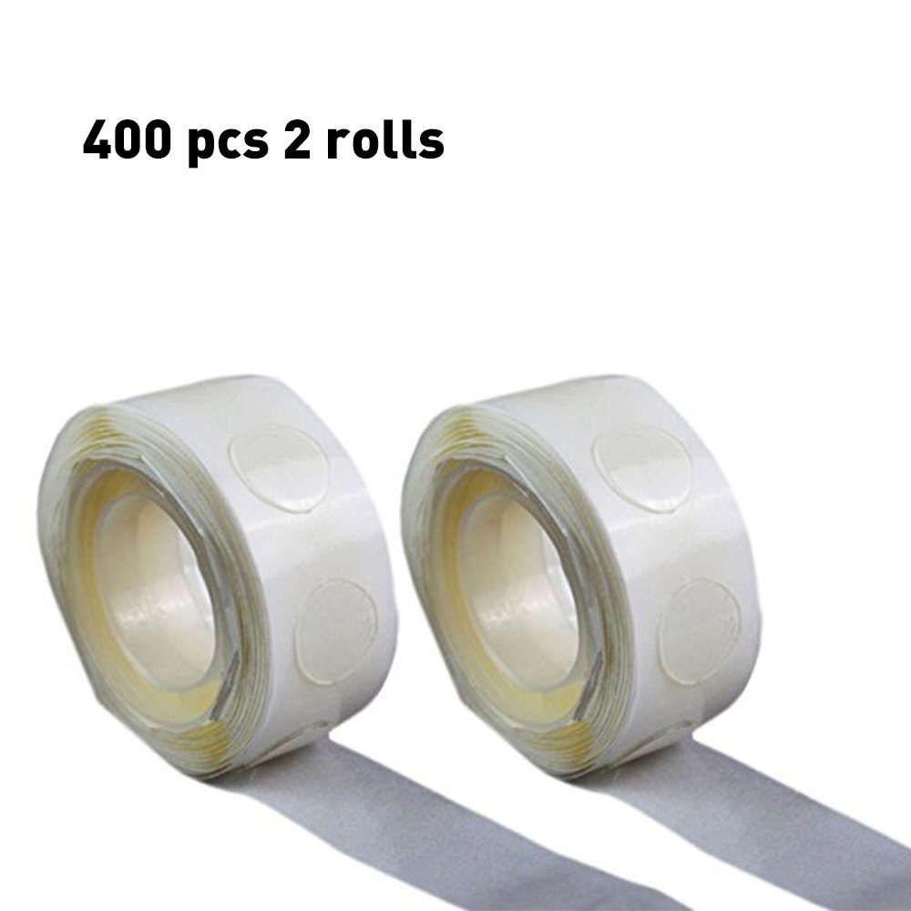 400 pcs (2 Rolls) Balloons Glue, Double Sided Dots of Glue, Craft Adhesive Point Tape ,Non-liquid Glue, Double sided Adhesive Tape ,Dots of Glue Stickers Adhesive Tape,,double side removable glue ..