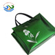 Shiny nonwoven fabric foldable shopping bag laminated bag with aluminum film