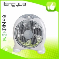 Home appliances 14 inch table fan square desk box fan with stand