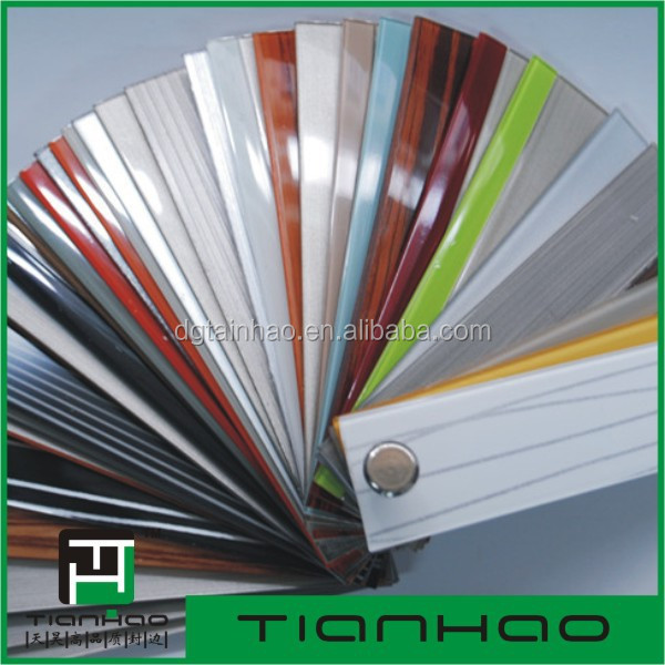 Promotion for SuperSeptember Purchasing 3D acrylic bi-color edge bands for ZHIHAO brand 18mm gloss pvc mdf boards