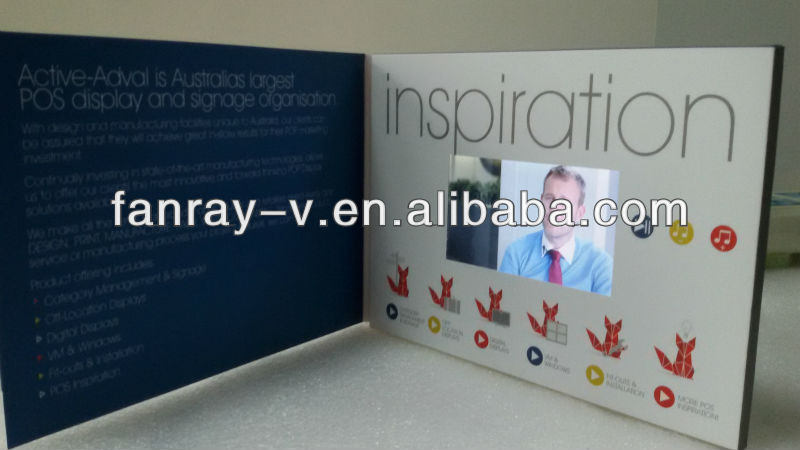 Super hot 4.3 inch video greetings cards for your company meeting