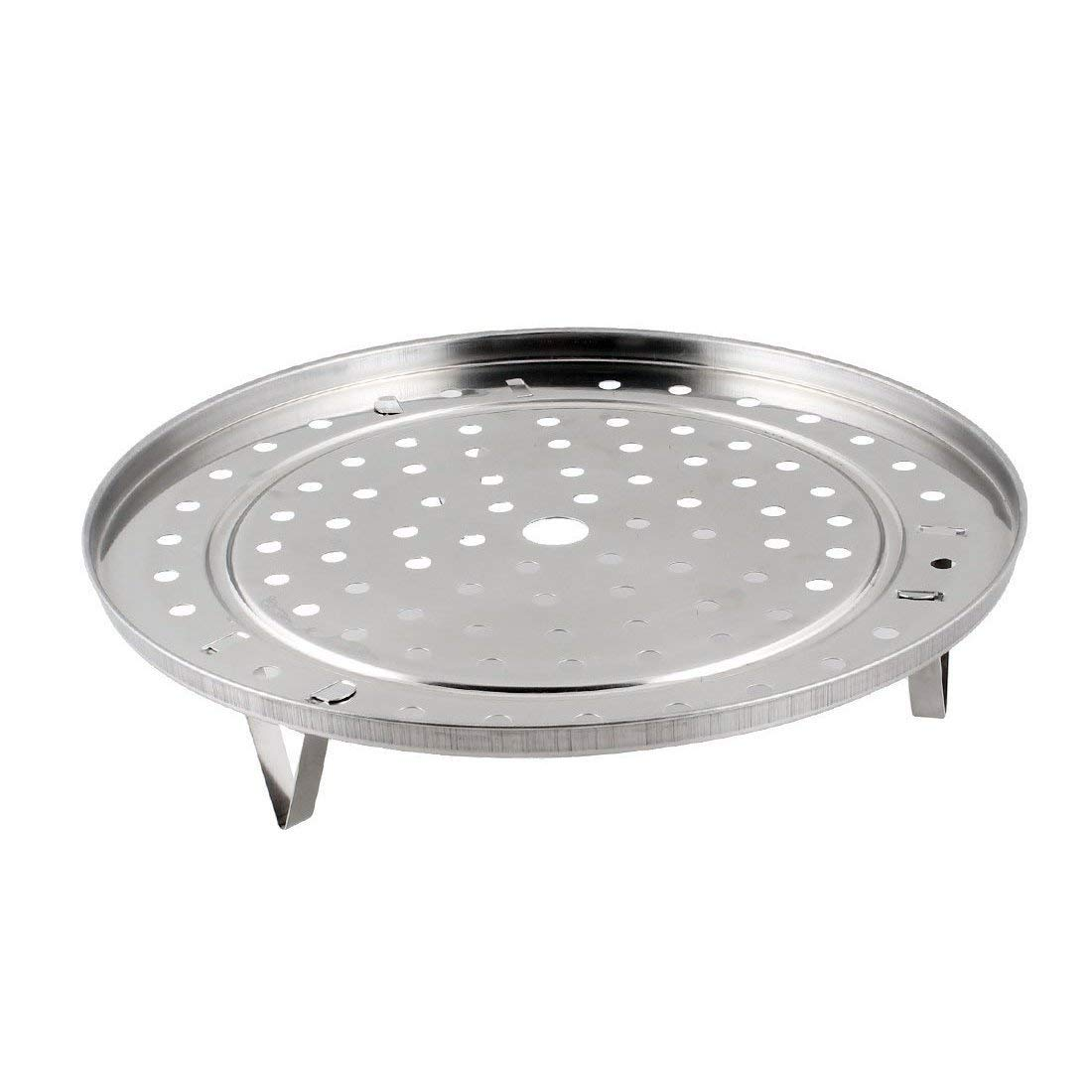 LUQUAN Round Stainless Steel Steaming Rack W Stand 25.5Cm Diameter