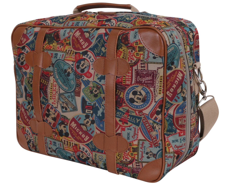 Disney Vintage Mickey Mouse Shoulder Bag Carry On Tote Boarding Luggage Bag