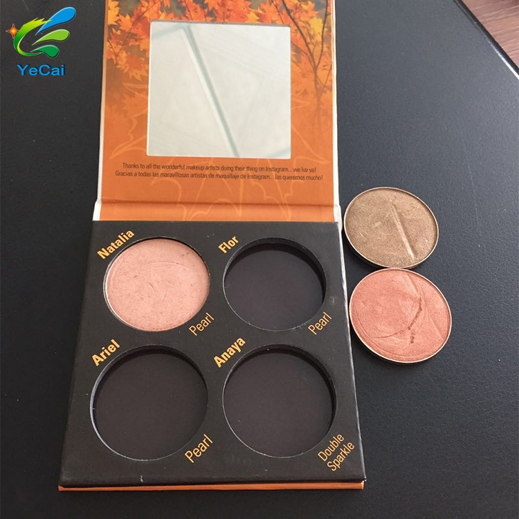 New product factory price luxury cardboard eyeshadow palette with private label