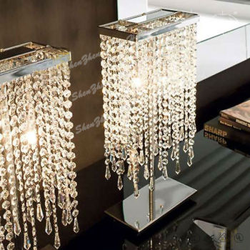 Luxury Crystal Chandelier Table Lamps Etl Buy Chandelier - Chandelier table lamps crystals