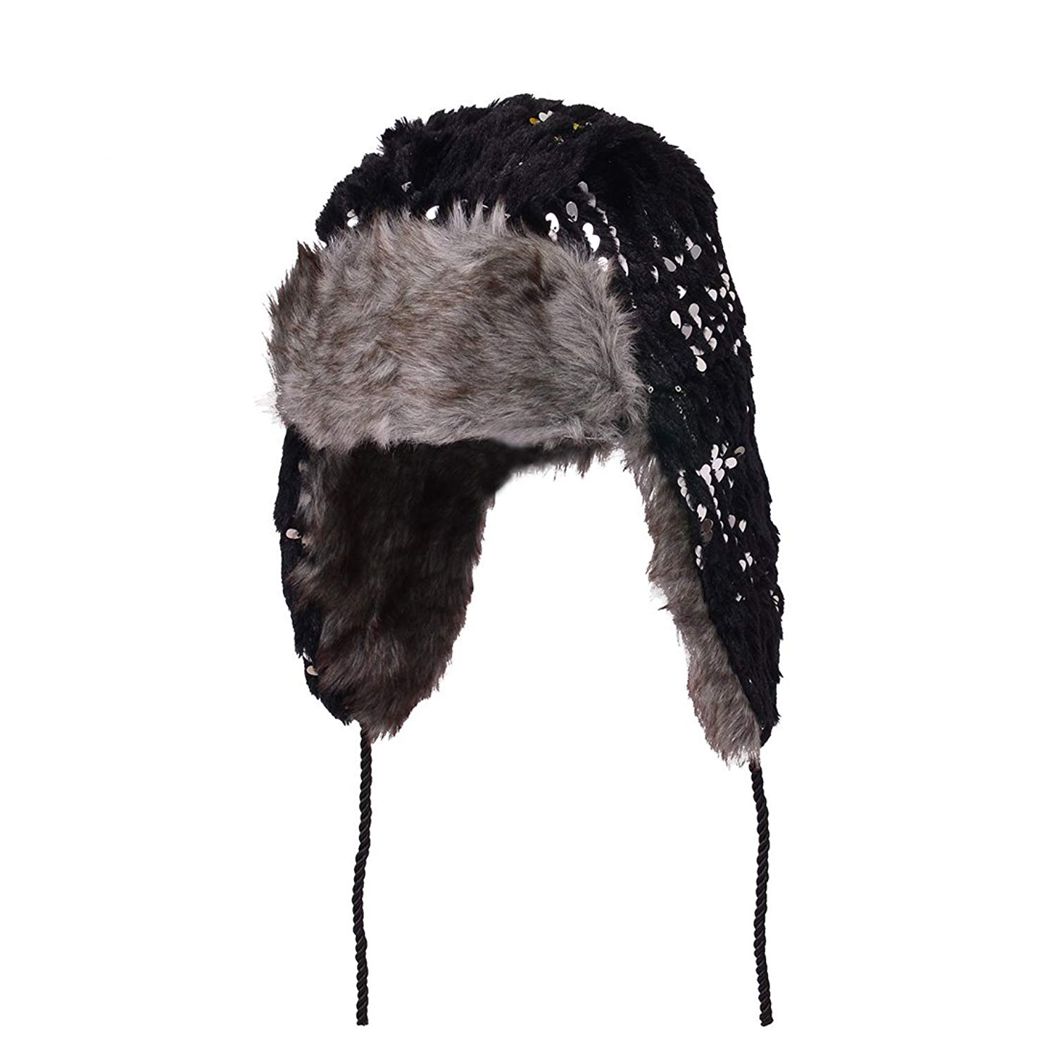 HUAN XUN Earflap Hat Winter Faux Fur Trapper Ski Hats Womens Girls Mens Multi Styles
