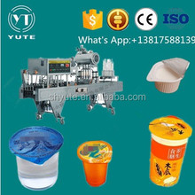 Mineral water plant dispsable cup filling and sealing machine