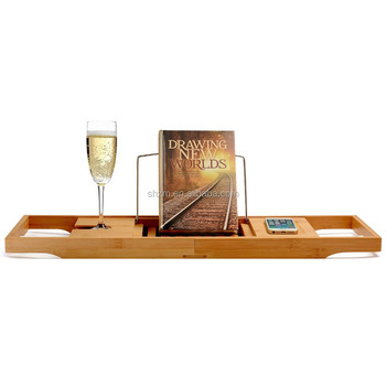 Manufacturer Bamboo Bathtub Caddy With Extending Sides And ...