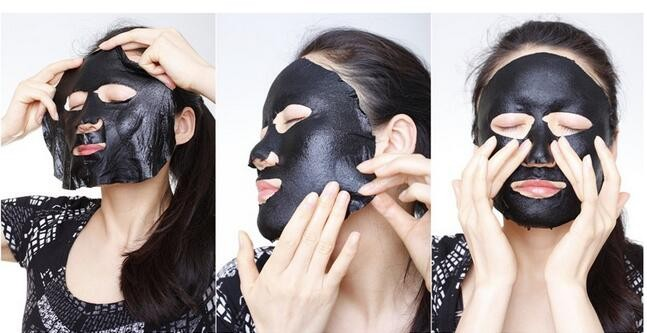Rolanjona wholesale whitening black face mask deep cleaning face black mask sheet