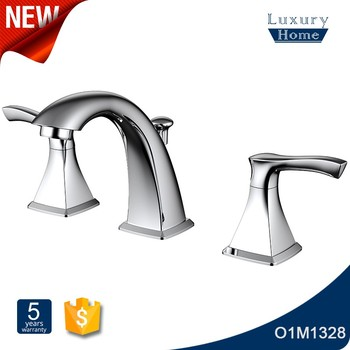 Upc Brass 3 Hole Double Handle Waterfall Bathroom Faucet For Usa