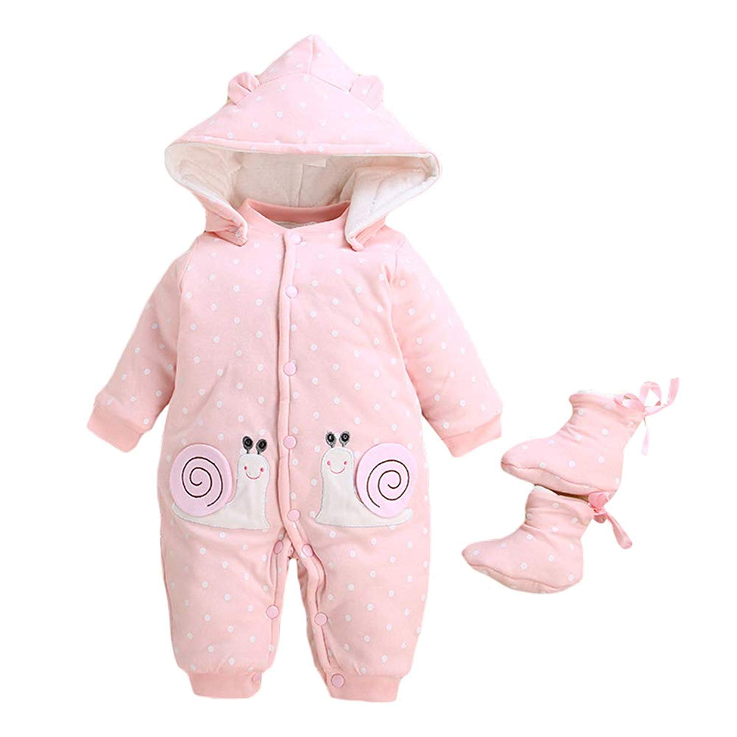 b6ae12b6d Get Quotations · Happy childhood Unisex Baby Thick Jumpsuit Outfit Warm  Infant Romper Suit Toddler Clothing Bodysuit