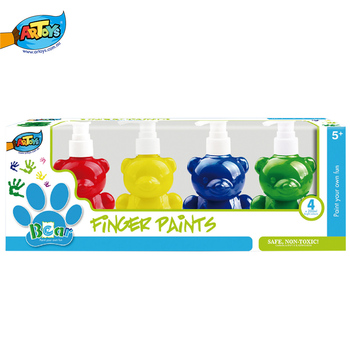 bear finger paint4 color