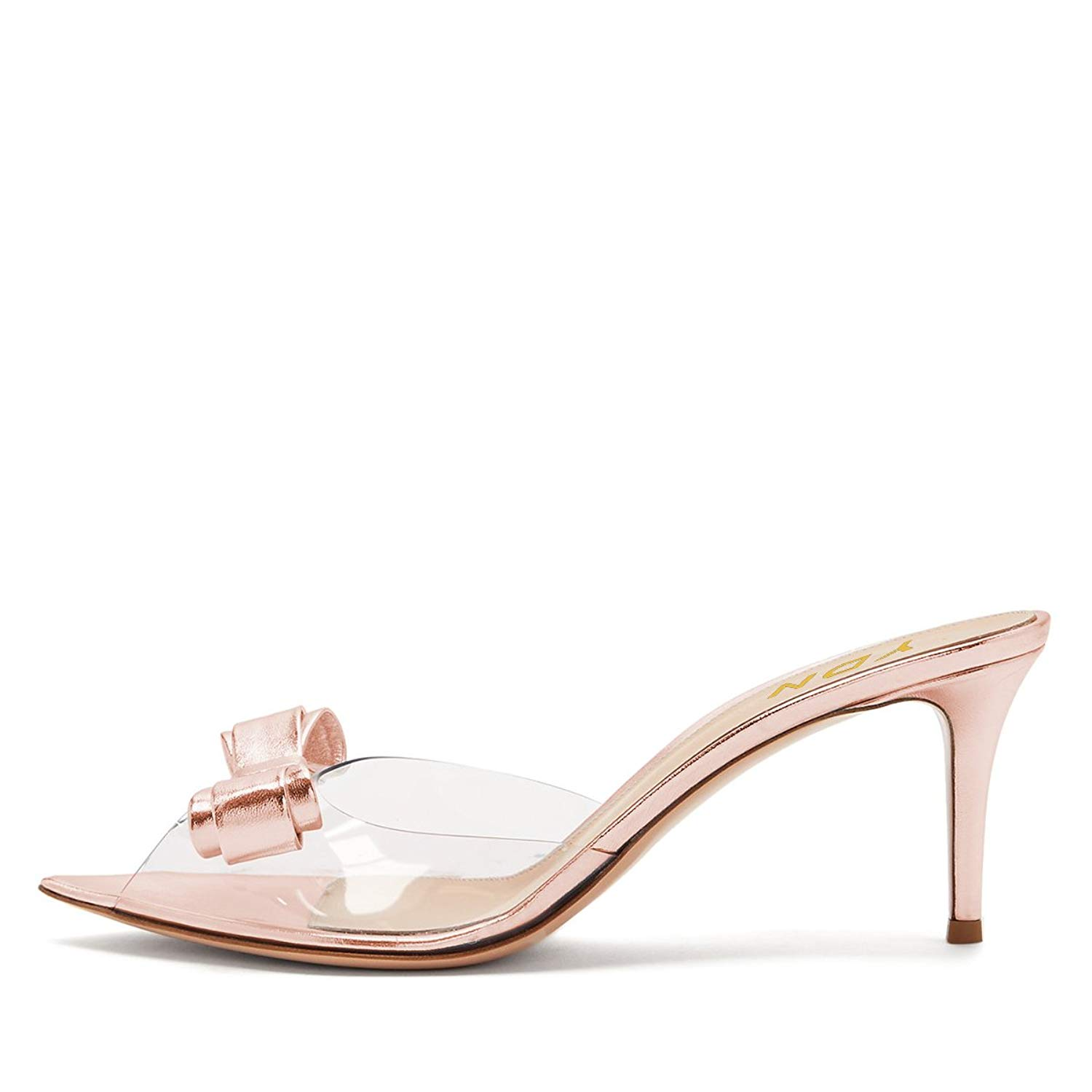25331b258403 Michelle Parker Cape Robbin Stealthy Lucite Clear PVC Mules Open Toe  Stiletto Heel Pumps Nude. 44.99. null. Get Quotations · YDN Women Peep Toe  High Heel ...