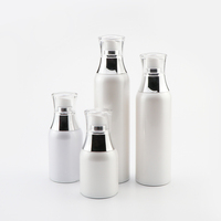 Eco friendly 30 50 100 120 ml moisturizing emulsion acrylic packaging airless plastic pump body lotion bottle with pump