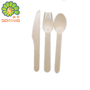 eco -friendly disposable wooden knife fork spoon