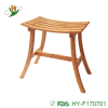 High quality easy assemable bamboo wooden single bathroom shower seat bench