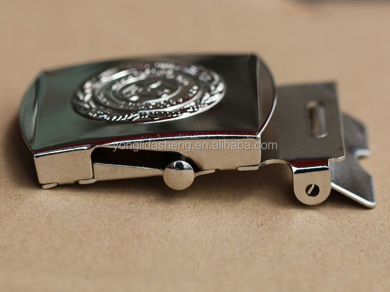 Fashion silver alloy metal coat belt buckle with customized logo