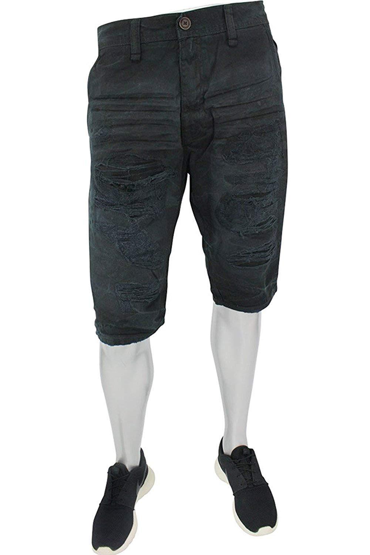 e261e02d52 Get Quotations · Jordan Craig Men's Flat Front Ripped & Splatter Twill  Shorts