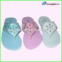 Fashion Silver Flip Flops For Ladies