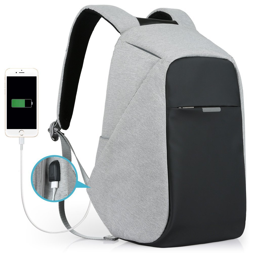 Anti-theft Travel back pack Daypack School Book Bag anti theft Business Laptop Backpack Mochila with USB Charging Port
