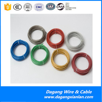 Electrical House Wiring Materials Single Solid Stranded Copper Conductor PVC Insulated Electric Wire