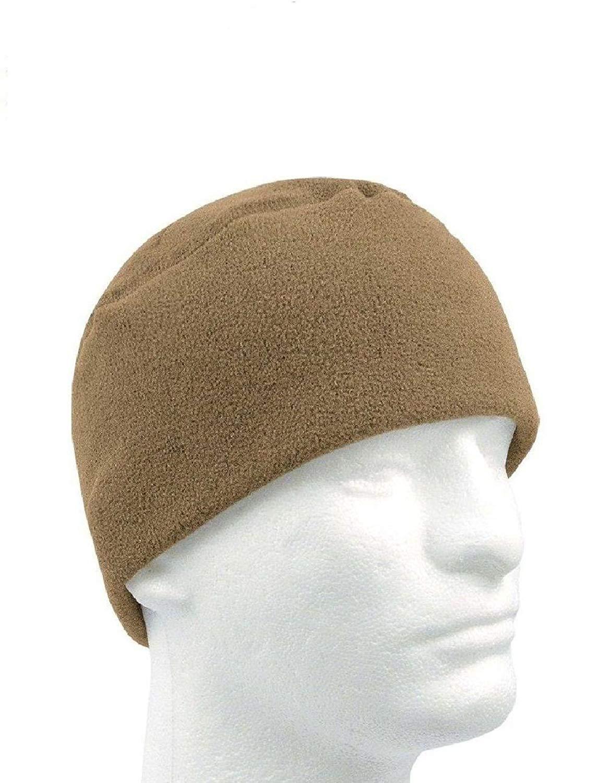 83366162ce8 Get Quotations · Coyote Brown Military Warm Winter Polar Fleece Watch Cap  Beanie Watch Cap