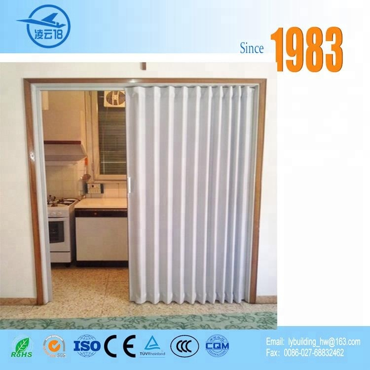 Factory Price One Side Opening Style PVC Folding Doors