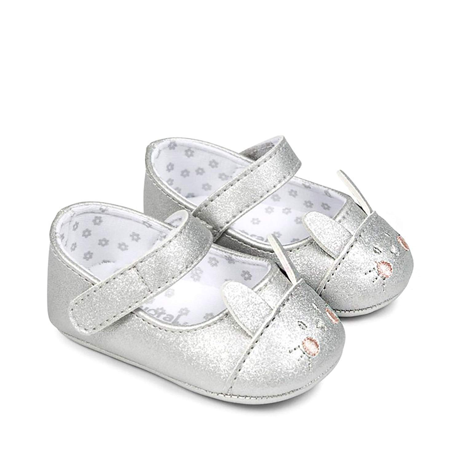 d1734edf5cf1 Get Quotations · Mayoral Bunny Mary Jane Shoes for Baby Girl in Silver