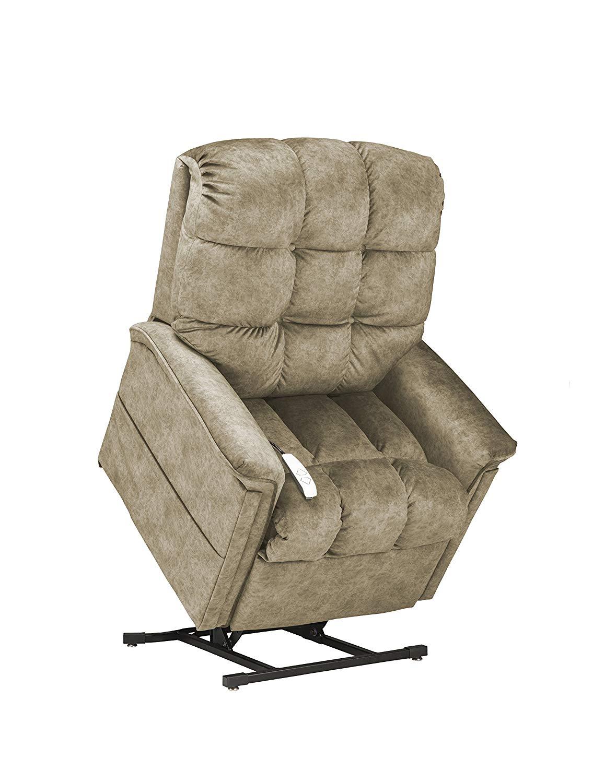 Mega Motion NM5001 Werner Power Recline Lift Option Chair, Large, Mushroom