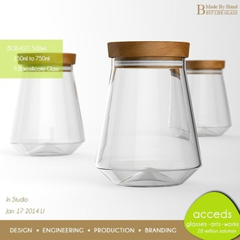 Oven Safe Wholesale Thermos Pyrex Glass Jar Fancy Food