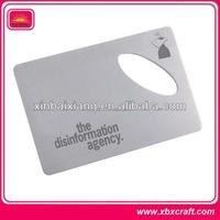 promotional aluminum metal business card bottle opener