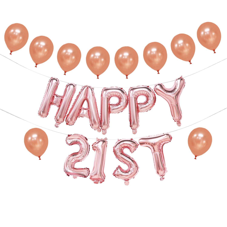 Get Quotations Happy 21st Birthday Balloon Banner