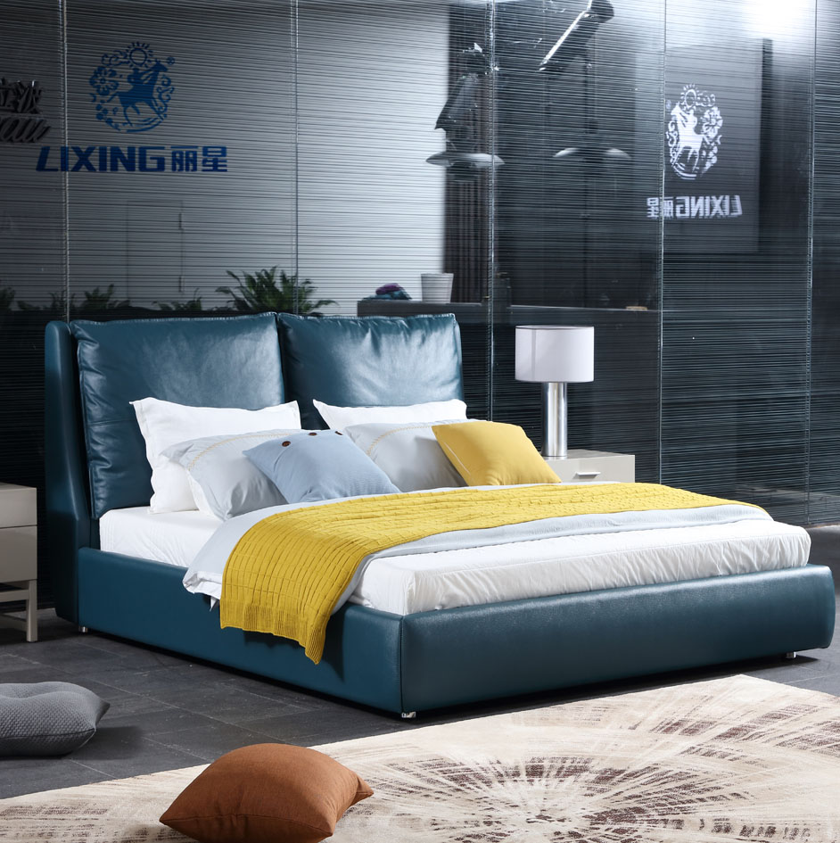 Bedroom Furniture Italian Modern Genuine Leather Bed 3D936, View Modern  Leather Bed, LiXing Product Details from Foshan Lixing Furniture Industry  Co., ...