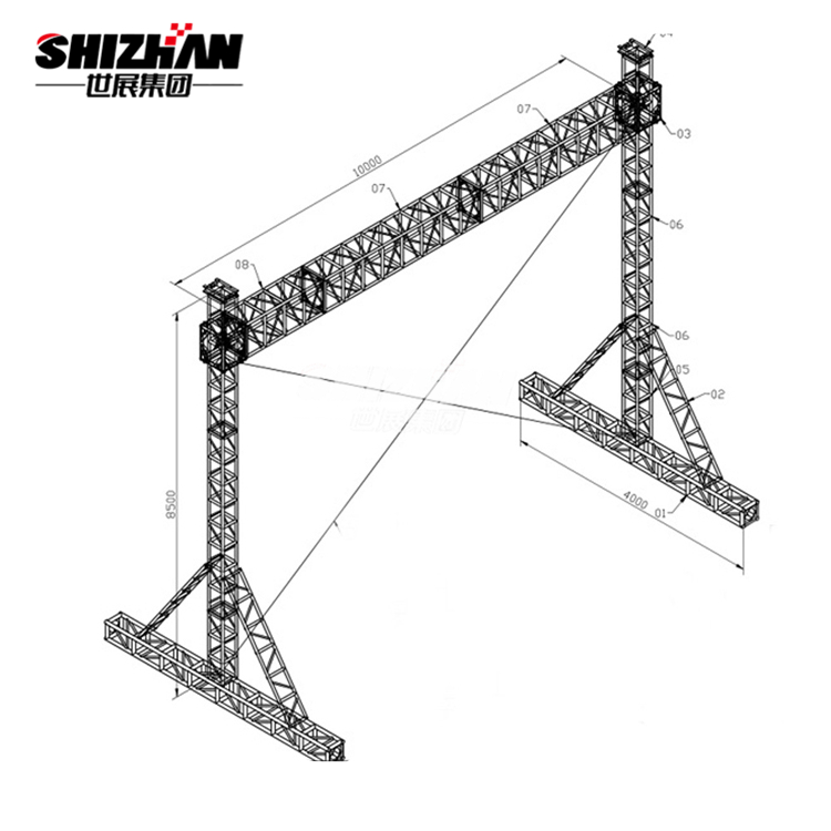 Aluminum truss/DJ lighting truss system/truss <strong>stage</strong> used for exhibition