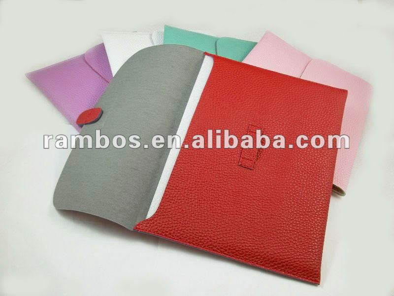 Envelop style lichee pattern slip leather case for ipad 2 3 for Samsung 10.1 inch