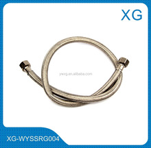 Toilet wash basin flexible braided cold hot water inlet hose/brass nut stainless steel knitted hose for water heater/sink hose