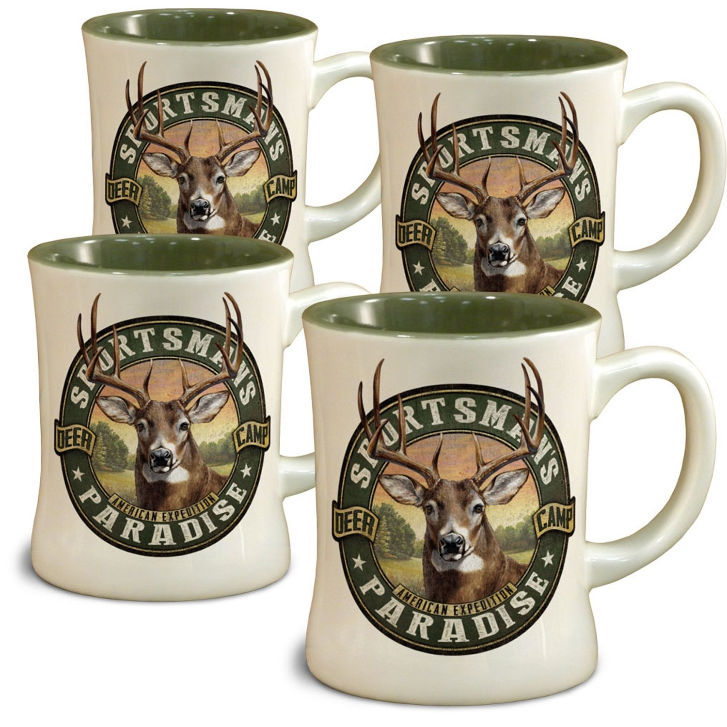 American Expedition Whitetail Deer Diner Mugs (4 Set)