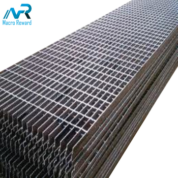 Heavy duty galvanized stainless steel bridge floor grating for building materials