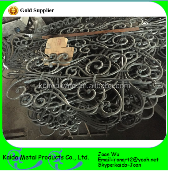 Beautiful Wrought Iron Scroll Panels For Balcony Railing