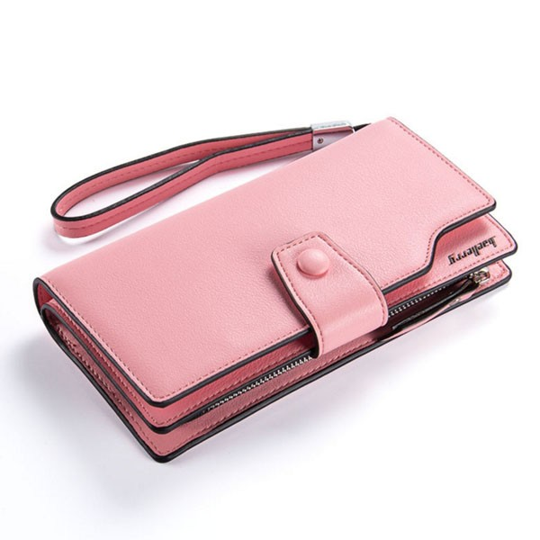 Females casual cards holder wallet money bag for iphone samsung huawei mobile phone