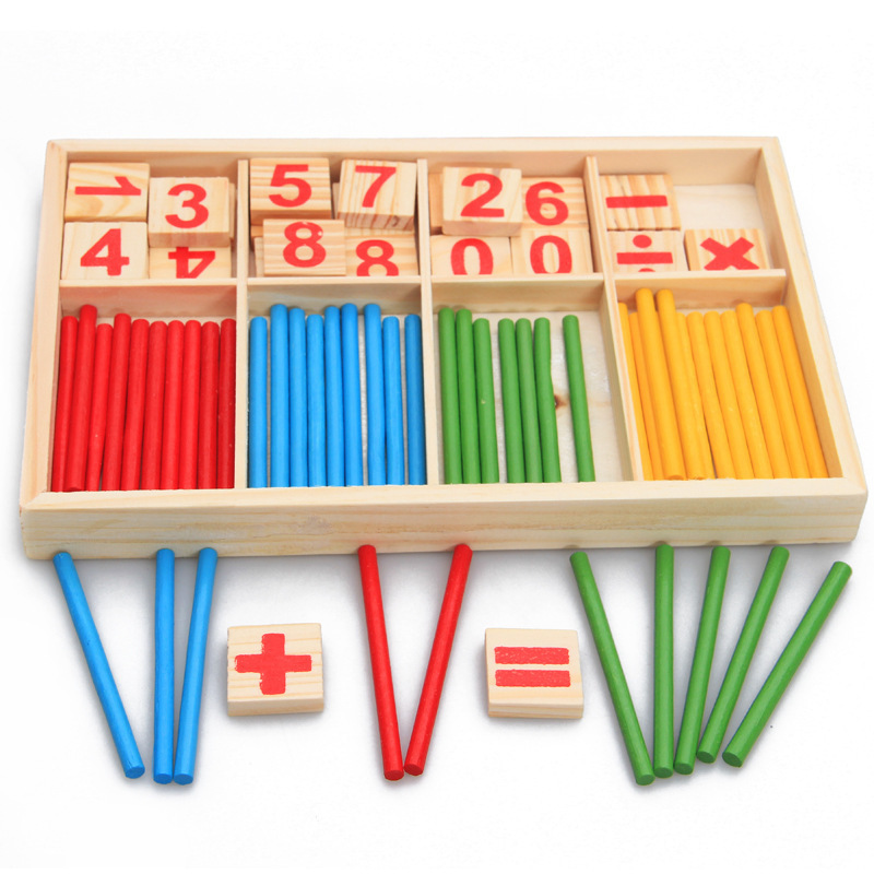 Wholesale Cunting sticks for kids educational math learning toys kids wooden toys