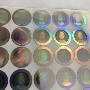 custom human head picture 3d round hologram sticker maker