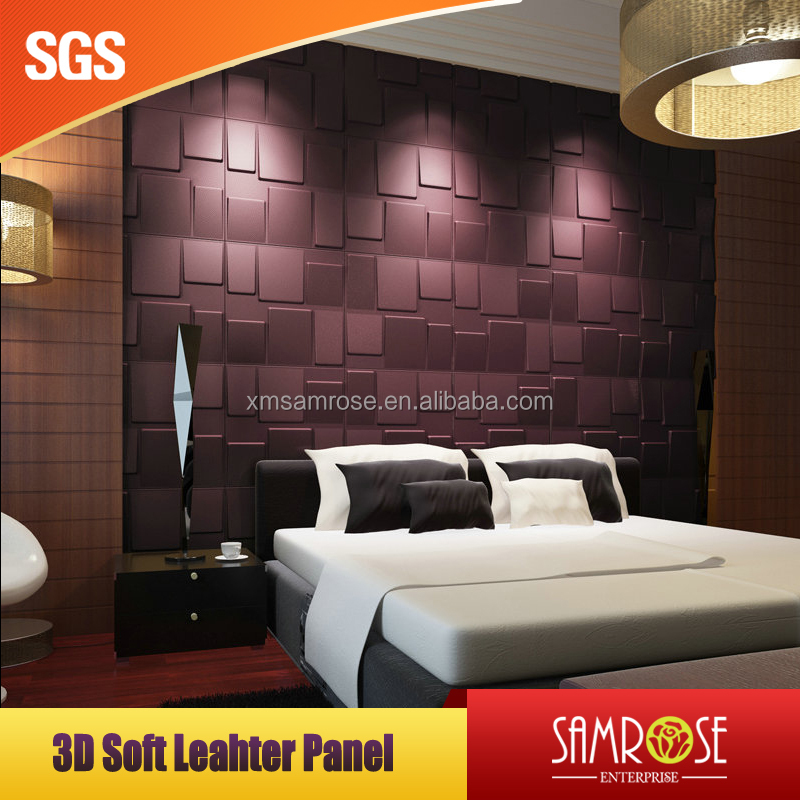 2016 Fashion Designs building material 3D interior decorative leather wall pannel for home decoration (Alps)