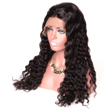 150 Density gossip swiss water wave pre plucked 360 lace wig human hair for black women