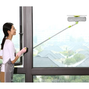 Window Squeegee Cleaner Swivel Squeegee Blade Brush Wiper