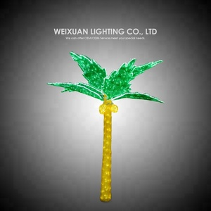waterproof 3D LED coconut tree light for summer style outdoor decorative lights