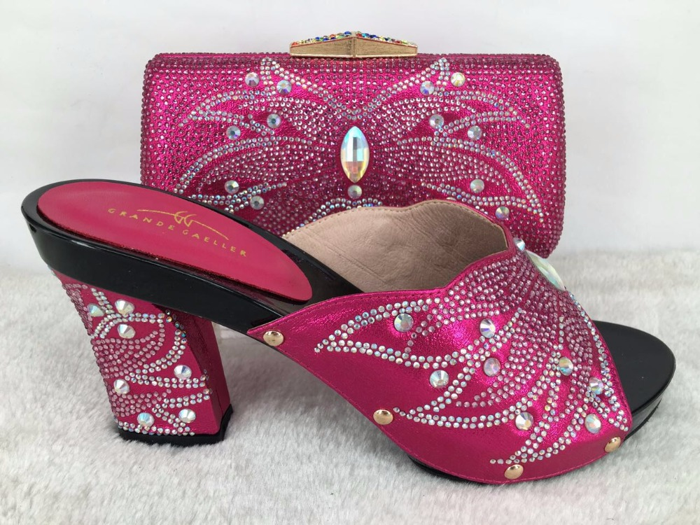 Las Set Bags Bag Shoes Match Wedding And Italian To New Fuchsia