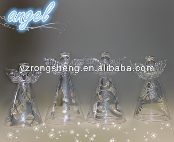 Nuevo estilo al por mayor de cristal ngel adornos de - Adornos navidad por mayor ...
