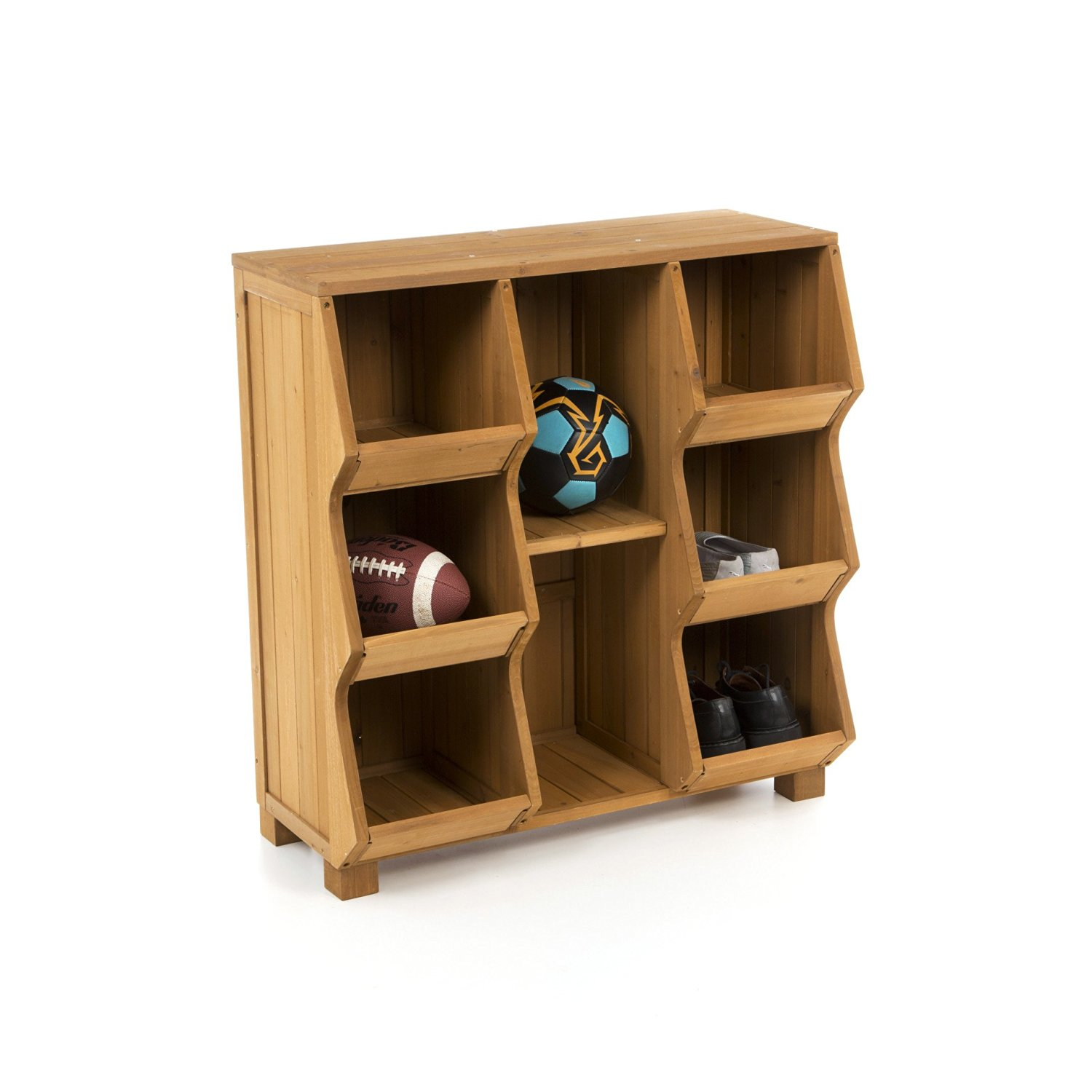 Get Quotations · Atlantic Outdoor Freestanding Cunninghamia Storage 8  Compartment Cubby, Brown