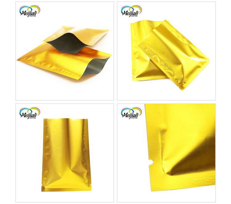 Food grade custom print simple heat seal packing bag aluminum laminated pouch foil packaging